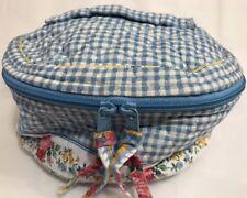 Vera Bradley Retired Rare Blue Gingham Travel Cosmetic