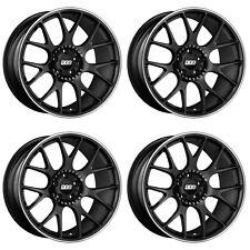 "4 x BBS CH-R Satin Black Alloy Wheels - 5x130 | 20x11.5"" | ET65 | 71.6mm CB"