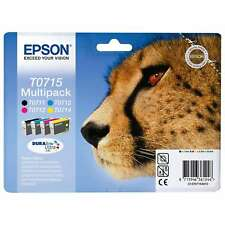 Genuine Epson TO715 Value Pack Original Ink Jet Print Cartridges, T0715 T071540