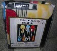 New Guitars Thin Polar Fleece Throw Gift Blanket Gibson Fender Soft Nip Guitar