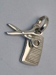 Links of London comb scissors charm pendant hair dressing sweetie silver
