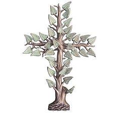 Tumba de cruz cruz de bronce bronce cruz árbol de la vida 60 cm grave. Cross Tree of Life