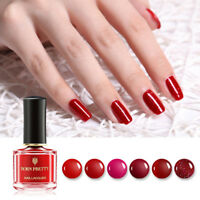 BORN PRETTY 6ml Red Nail Polish Peel Off Nail Art Varnish Long Lasting