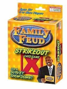 New- Family Feud Strikeout Card Game 3+ Players- NIB- FREE SHIPPING