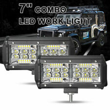 2x 7inch 216W LED Work Light Bar Combo Flood Spot Combo Fog Lamp Offroad 4WD SUV