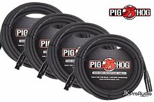 4 PACK Pig Hog 8mm Mic Cable, 50' foot XLR to XLR w/ LIFETIME Warranty PHM50