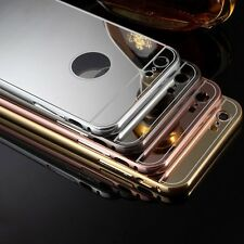 Funda Carcasa Luxury Aluminum Bumper Mirror Espejo Cover Para iphone 5 5s 6 6s