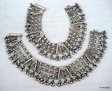 feet bracelet ankle chain necklace vintage antique tribal old silver anklet