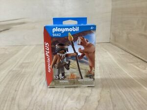 Playmobil Special Plus History 9442 Caveman with Sabertooth Tiger New In Box