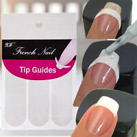 240 pcs French Manicure Nail Art Tips Form Guide Sticker Polish DIY Stencil Hot