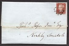 1843 entire with Kendal distinctive MX with gap in to Kirby Lonsdale 27/8/1843