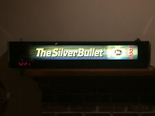 "Coors Silver Bullet 40"" Lighted Bar Sign Hanging Wall"