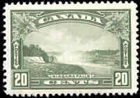 Mint H Canada 20c F-VF 1935 Scott #225  King George V Pictorial Stamp