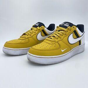 Nike Mens Air Force 1 '07 LV8 2 CI0061-700 Dark Sulfur White Black Shoes Sz 8.5