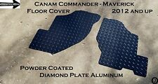 CANAM Commander Maverick Powder Coated Diamond Plate Floor Covers 2012 And up