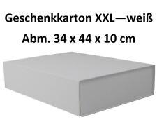 Geschenkkarton extra groß weiß mit Magnetverschluss Abm. 34 x 44 x 10 cm