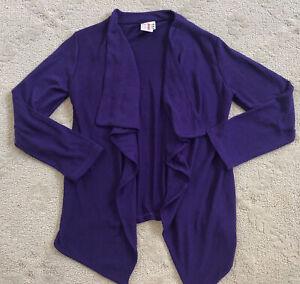 CWD KIDS boutique Girls purple handkerchief cardigan sweater soft 14