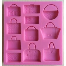 Famous Designer Handbag Silicone Mold, Fashion Purse Mould, Cake Mold, Fondant