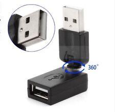 USB 2.0 A Macho A Hembra Usb Adaptador Convertidor de extensión de rotación de 360 grados nuevo