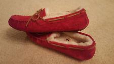 UGG AUSTRALIA Dakota Moccasin Slippers Jester Red 5612 Leather Sheep Wool US 12