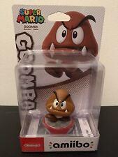 New Nintendo Amiibo Goomba Figure, Super Mario Collection, Wii U, 3DS, Switch