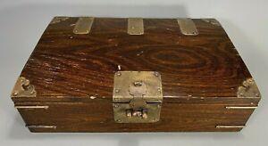 Korean Joseon Dynasty Scholar Wood Document & Other Valuables Box ca. 19th c.