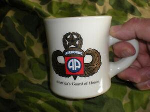 1992-2001 82ND AIRBORNE PARATROOPER COFFEE MUG, NEW W/O TAG FORT BRAGG, NC