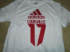 Adidas Louisville Football Team Issued XL White climalite shirt for 2017 Pro day