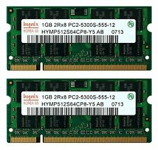 RAM 2GB ( 2 X 1GB ) DDR2 PC2 6400 800MHz SODIMM Memory Ram for Laptop Computer