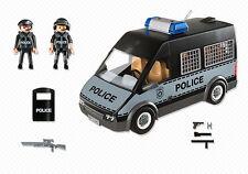 PLAYMOBIL 6043 Polizei-mannschaftswagen mit Licht und Sound