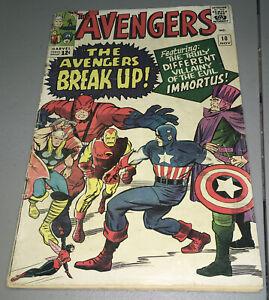 Avengers #10 Marvel 1st App Appearance Immortus 1964 Marvel