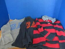 BABY GAP~Lot of 3 LONG SLEEVE THERMAL SHIRTS~Red Navy Gray Orange~Boys Size 4