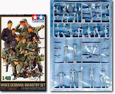 Tamiya 32512 1/48 Military Model Figure Kit WWII German Infantry Set