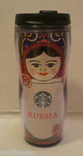 Starbucks Russia Travel Tumbler Matryoshka Nesting Doll - 16 oz / 473 ml In USA