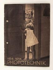 1934 Germany ZEISS IKON vintage Magazine PHOTOTECHNIK