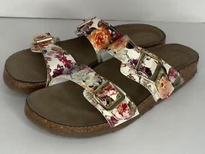 Steve Madden Brando Floral Sandals 2 Strap Slides 9M