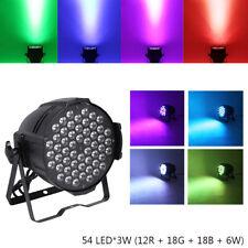 200W 54 LED RGBW Stage PAR Light Beam DMX Party DJ Strobe Effect Voice-activated