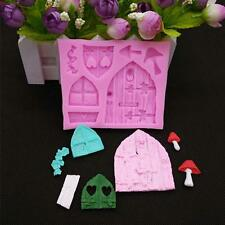 JмY Chocolate 3D Fairy House Mould Mold Silicone Baking Cake Decorating Tool ˇJм