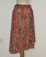 Versailles Crinkle Southwest Print Chiffon Draped Asymmetrical Skirt NWT sz 12