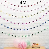 4M Star Paper Garland Banner Bunting Drop Baby Shower Wedding Party Decor-