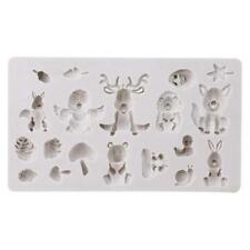 3D Forest Animals Fondant Chocolate Cake Silicone Mould Icing Craft Decor 6A