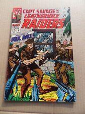 Capt . Savage and his Leatherneck Raiders 8 . Marvel 1968 - VF
