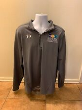 Under Armour Gray Quarter-Zip Pullover Athletic Clothing Men Size XL Loose Golf
