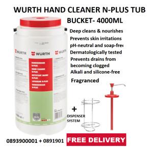 WURTH Fragranced Hand Wash Cleaner Fine Dispenser Pump + Wall Mount - WORKSHOP +