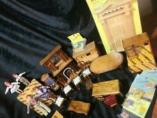 New ListingLarge 22 piece lot of Concord and other Misc.Wooden Doll House miniatures