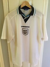 Vintage 95-97 England National Team Home Soccer Jersey Umbro Extra Large XL