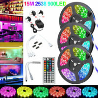LED Strip Lights 5-15m RGB Dimmable TV Back Light with Remote Control 12V