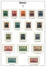 Album Memel en couleur avec pochettes. Pas de timbres. No stamps.