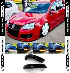 Fits Volkswagen Golf MK5 Sequential Side Mirror LED Indicators (SMOKED) VW GTI