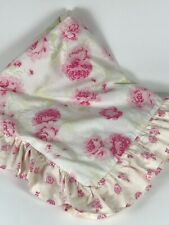 Simply Shabby Chic Pink Floral Misty Rose 100% Cotton large ruffle Pillow Sham